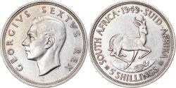 World Coins - Coin, South Africa, George VI, 5 Shillings, 1949, , Silver, KM:40.1