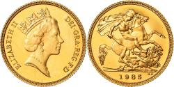 World Coins - Coin, Great Britain, Elizabeth II, 1/2 Sovereign, 1985, , Gold, KM:942