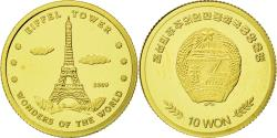 World Coins - France, Medal, Tour Eiffel, 10 Won, 2009, , Gold