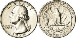 Us Coins - Coin, United States, Washington Quarter, Quarter, 1964, U.S. Mint, Philadelphia