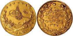 World Coins - Coin, Turkey, Muhammad V, 25 Kurush, 1911, Qustantiniyah, , Gold