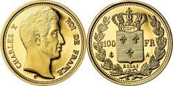 Ancient Coins - France, Medal, 100 Francs Essai Charles X, , Gold
