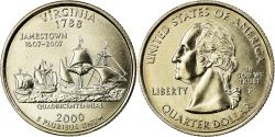 Us Coins - Coin, United States, Virginia, Quarter, 2000, U.S. Mint, Philadelphia,