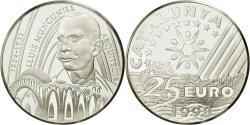 World Coins - France, 25 Euro, Lluis Muncunill, 1998, , Silver