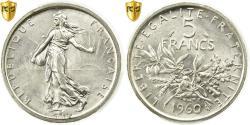 Ancient Coins - Coin, France, Semeuse, 5 Francs, 1960, Paris, PCGS, MS64, Silver, KM:926