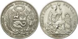 World Coins - Coin, Peru, Sol, 1895, Lima, , Silver, KM:196.26