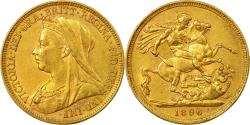 World Coins - Coin, Australia, Victoria, Sovereign, 1896, Melbourne, , Gold, KM:13
