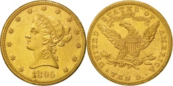 Us Coins - United States, Coronet Head, $10, 1895, Philadelphia, , Gold, KM 102