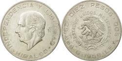 World Coins - Coin, Mexico, 10 Pesos, 1956, Mexico City, , Silver, KM:474