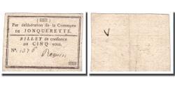 World Coins - France, 5 Sous, Undated (1791-92), JONQUERETTE, AU(50-53)