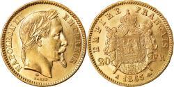 Ancient Coins - Coin, France, Napoleon III, 20 Francs, 1865, Paris, , KM 801.1