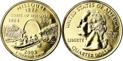 Us Coins - Coin, United States, Missouri, Quarter, 2003, U.S. Mint, Denver, golden