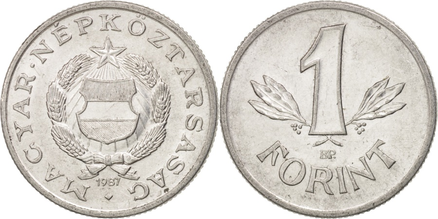 World Coins - Hungary, Forint, 1987, , Aluminum, KM:575