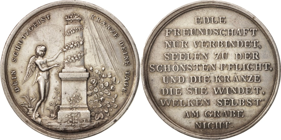 World Coins - Germany, Medal, Freudschaft, Politics, Society, War, , Silver