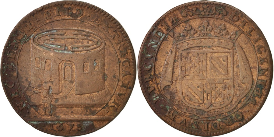 World Coins - France, Token, Etats de Bourgogne, 1678, , Copper, Feuardent:9813