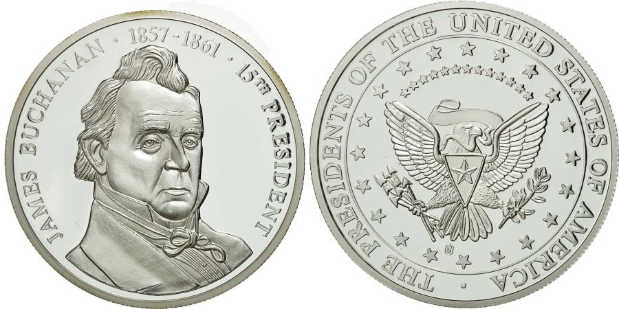 US Coins - United States of America, Medal, Les Présidents des Etats-Unis, J. Buchanan
