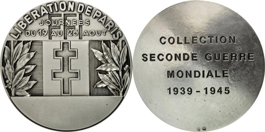 World Coins - France, Medal, Seconde Guerre Mondiale, Libération de paris,