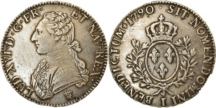 World Coins - Coin, France, Louis XVI, Écu aux branches d'olivier, Ecu, 1790, Limoges