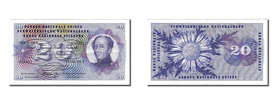 World Coins - Switzerland, 20 Franken, 1976, KM #46w, 1976-04-09, AU(55-58), 106I