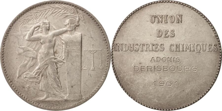 World Coins - France, Medal, Union des Industries Chimiques, Sciences & Technologies, 1961
