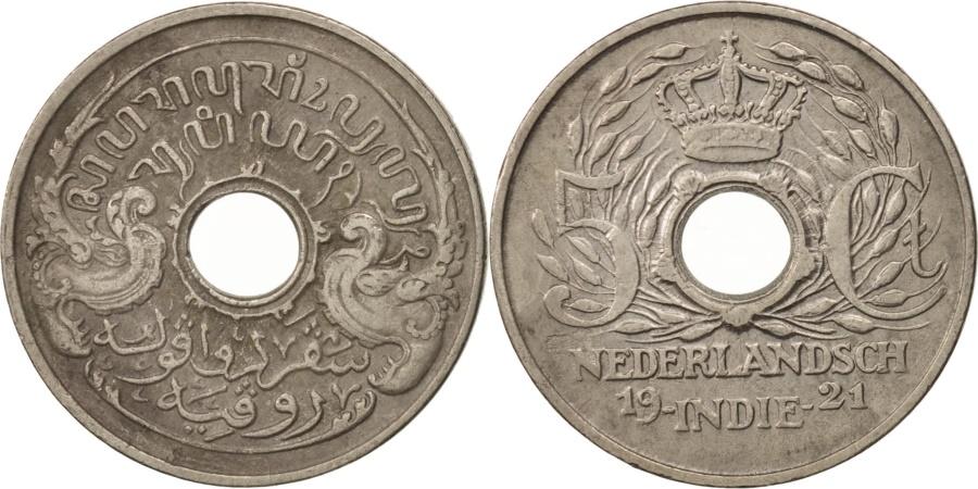 World Coins - NETHERLANDS EAST INDIES, Wilhelmina I, 5 Cents, 1921, Utrecht, KM:313