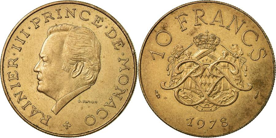 World Coins - Coin, Monaco, Rainier III, 10 Francs, 1978, , Copper-Nickel-Aluminum