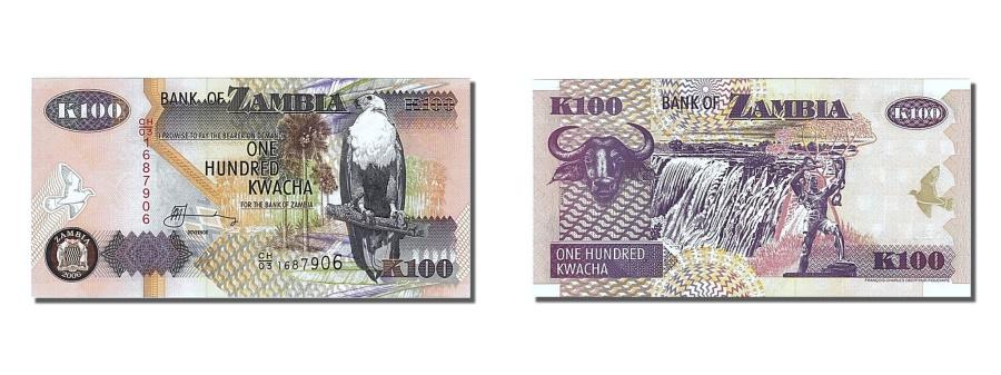 World Coins - Zambia, 100 Kwacha, 2002, KM #38d, UNC(65-70), CH/03 1687906