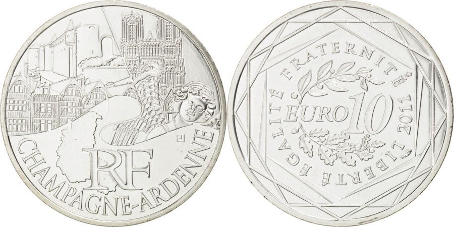 World Coins - FRANCE, 10 Euro, 2011, Paris, KM #1733, , Silver, 29, 10.00