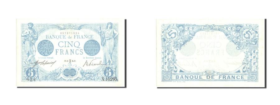 World Coins - France, 5 Francs, 5 F 1912-1917 ''Bleu'', 1916, KM:70, 1916-02-11, UNC(63)