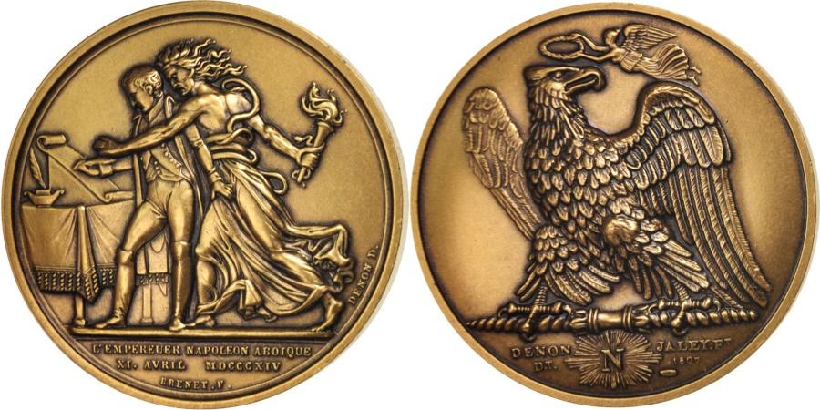 World Coins - France, Medal, Abdication de Fontainebleau, History, , Bronze