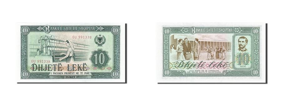 World Coins - Albania, 10 Lekë, 1976, KM:43a, 1976, UNC(65-70)