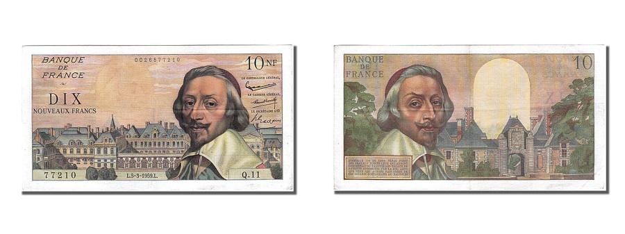 World Coins - France, 10 Nouveaux Francs, 10 NF 1959-1963 ''Richelieu'', 1959, KM #142a,...
