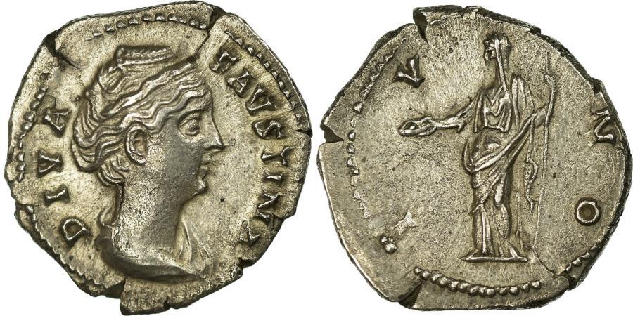 Ancient Coins - Coin, Faustina I, Denarius, Roma, AU(55-58), Silver, Cohen:209