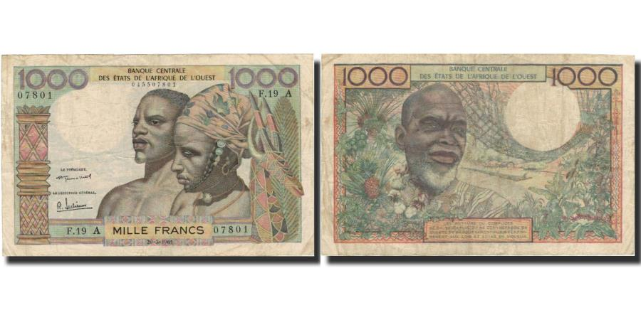World Coins - Banknote, West African States, 1000 Francs, Undated (1959-65), KM:103Aa
