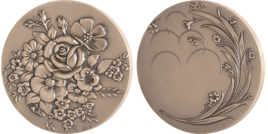 World Coins - FRANCE, Flora, The Fifth Republic, Medal, , Bronze, 240.00