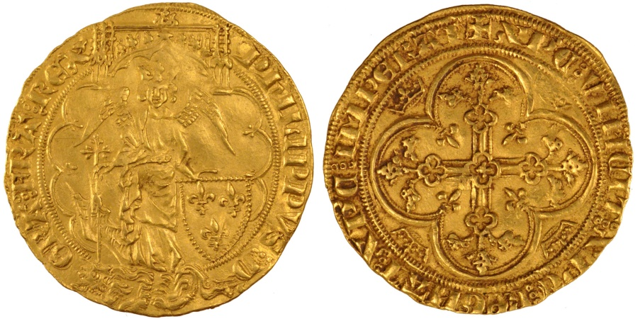 World Coins - FRANCE, Gold Angel, 1341, , Gold, Duplessy #255A, 6.37