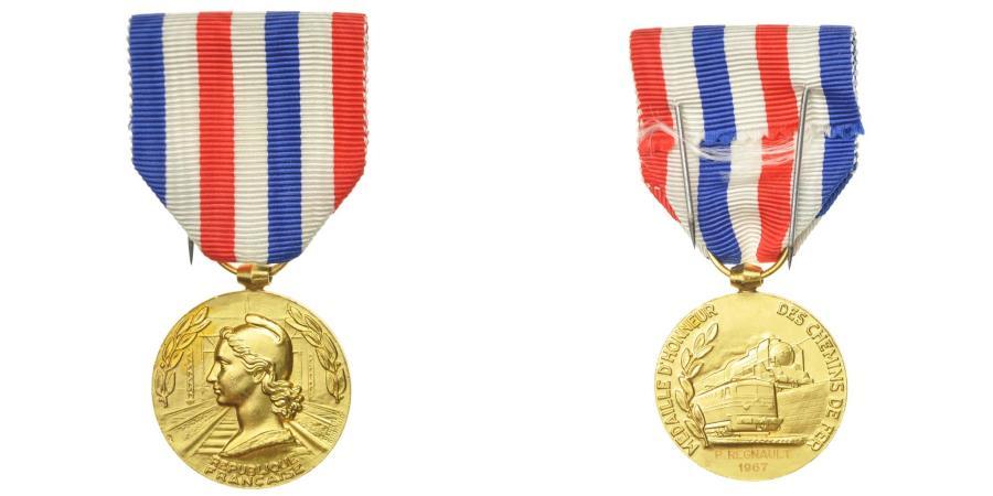 World Coins - France, Honneur des Chemins de Fer, Medal, 1967, Excellent Quality, Guiraud