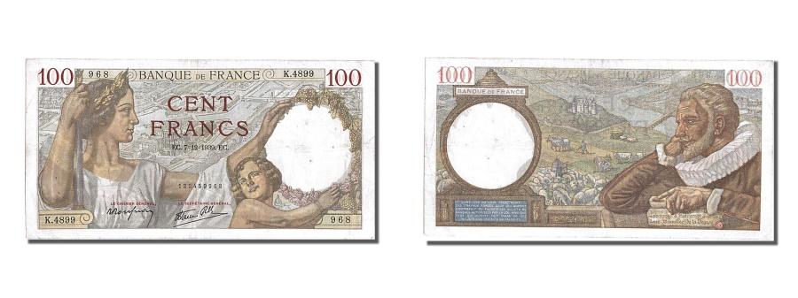 World Coins - France, 100 Francs, 100 F 1939-1942 ''Sully'', 1939, KM #94, 1939-12-07,...