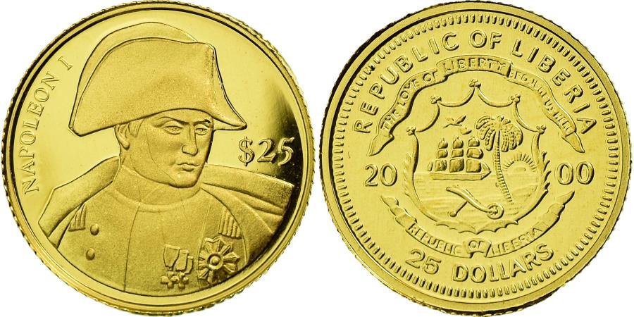 World Coins - Coin, Liberia, Napoléon I, 25 Dollars, 2000, , Gold