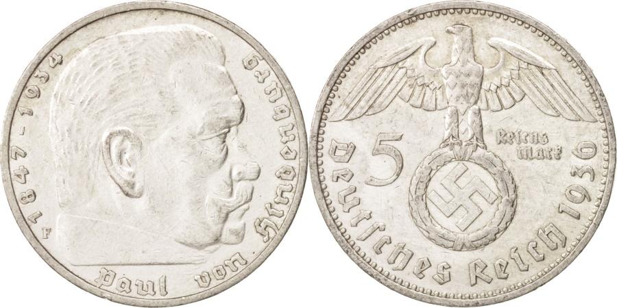 World Coins - GERMANY, THIRD REICH, 5 Reichsmark, 1936, Stuttgart, , Silver, KM:94