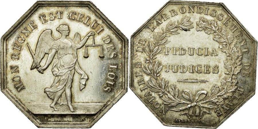 World Coins - France, Token, Notaires de l'Arrondissement de Blaye, Borrel.A,