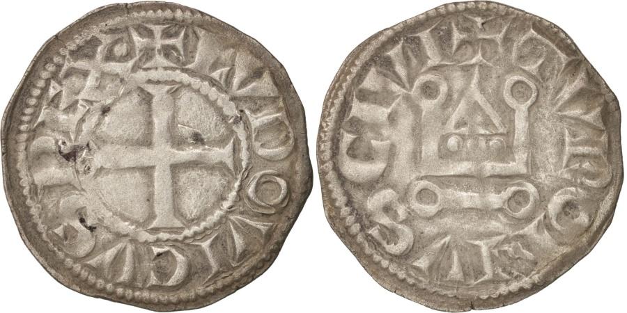 World Coins - France, Louis VIII or Louis IX, Denier Tournois, , Silver, Duplessy:188
