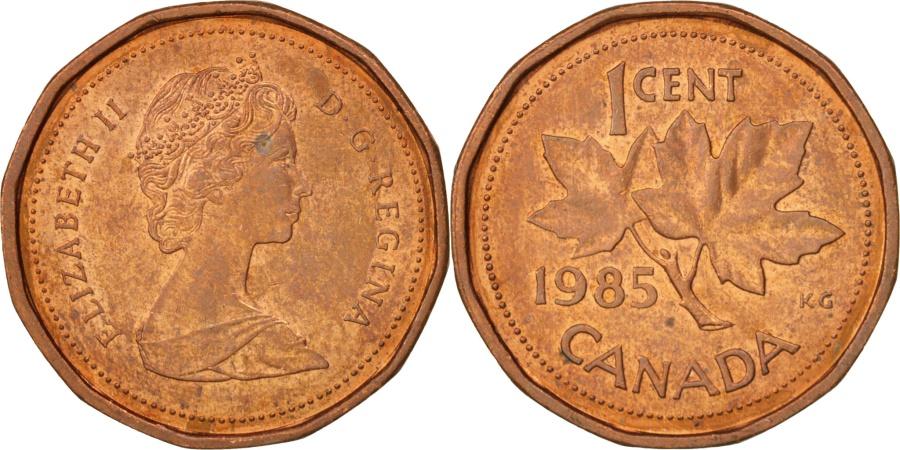 World Coins - Canada, Elizabeth II, Cent, 1985, Royal Canadian Mint, Ottawa,