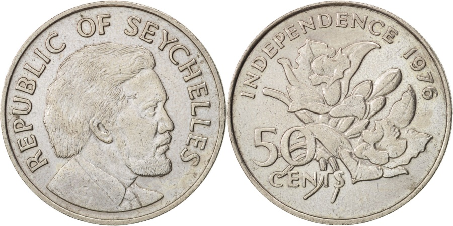 World Coins - Seychelles, 50 Cents, 1976, British Royal Mint, , Copper-nickel, KM:25