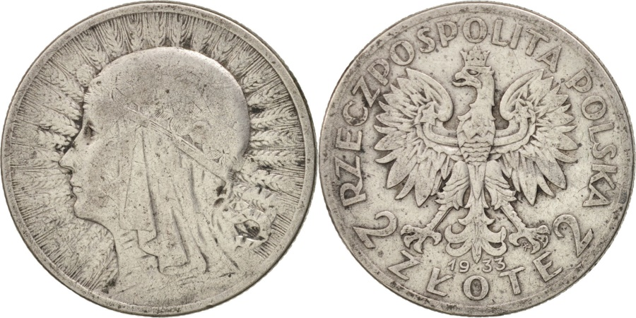 World Coins - Poland, 2 Zlote, 1933, Warsaw, , Silver, KM:20