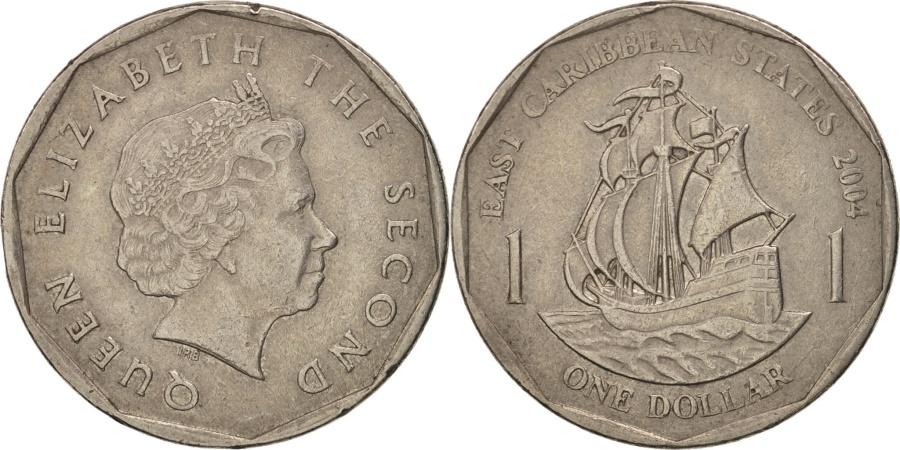 World Coins - East Caribbean States, Elizabeth II, Dollar, 2004, , KM 39