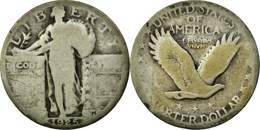 US Coins - Coin, United States, Standing Liberty Quarter, Quarter, 1925, U.S. Mint