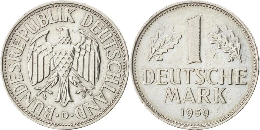 World Coins - GERMANY - FEDERAL REPUBLIC, Mark, 1959, Munich, KM #110, ,...