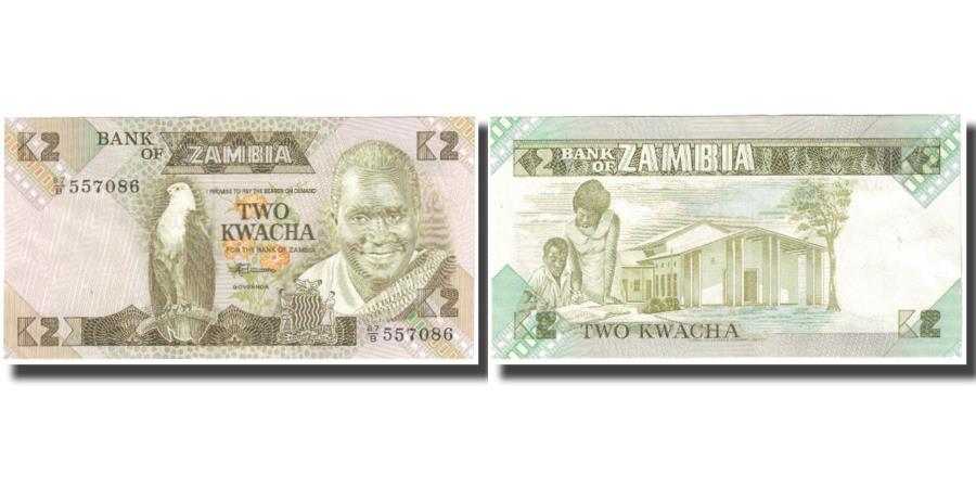 World Coins - Banknote, Zambia, 2 Kwacha, KM:24c, UNC(65-70)