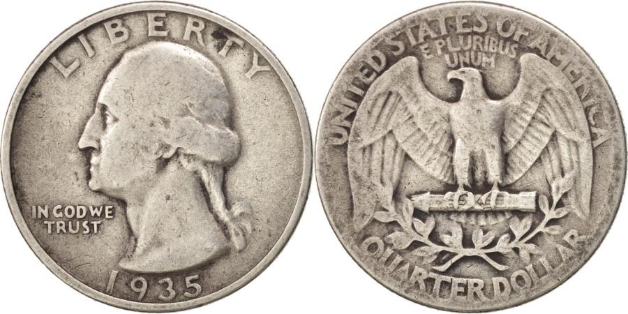 US Coins - United States, Washington Quarter, 1935, Philadelphia, KM 164